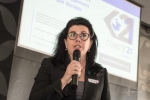 Lorraine Simard présente le Challenge CAP C21 aux gens d'affaires de Vaudreuil -Soulanges
