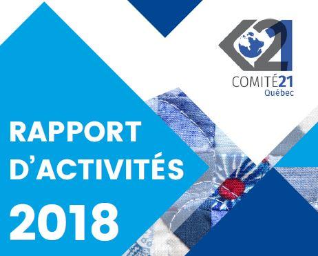 Le Comité 21 Québec publie son rapport d'activités 2018