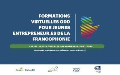 Formations virtuelles pour jeunes entrepreneur.es de la francophonie | Captations
