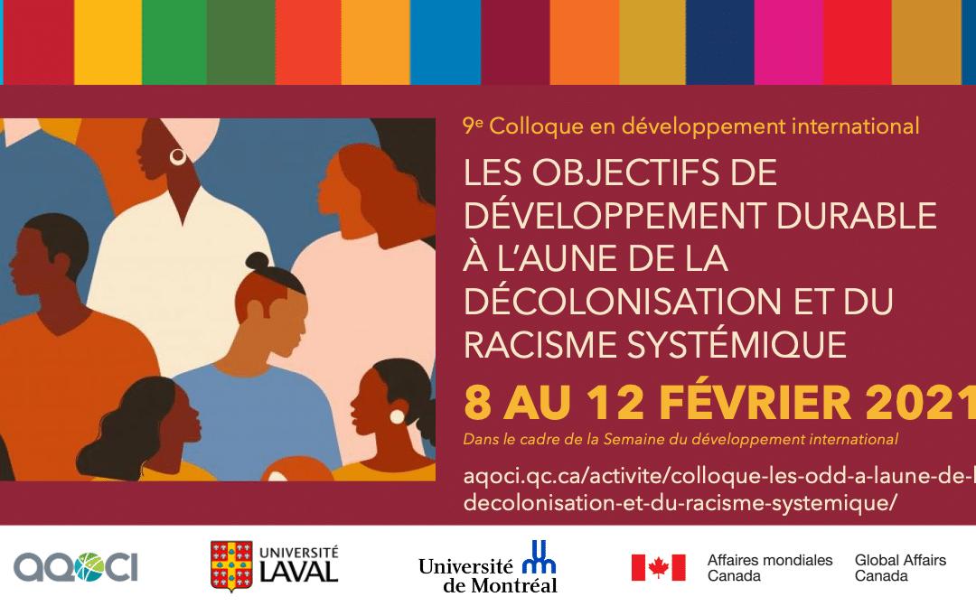 Colloque 'Les ODD à l'aune de la décolonisation et du racisme systémique', intervention de Karine Casault au panel de clôture